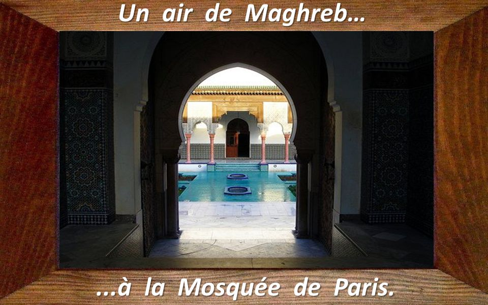 Un air de Maghreb… ...à la Mosquée de Paris.