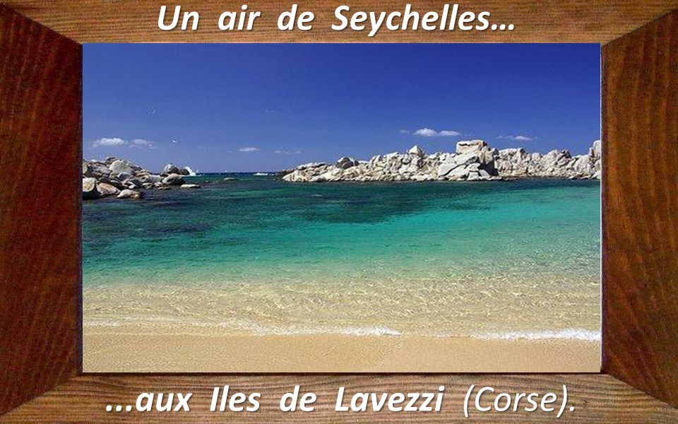 ...aux Iles de Lavezzi (Corse).