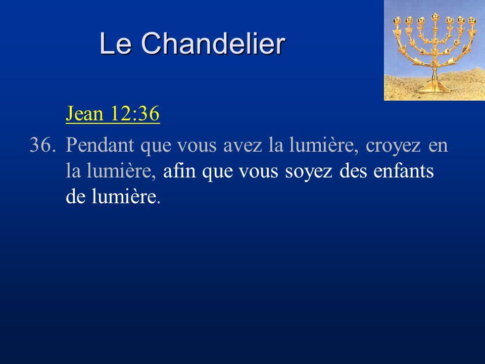 Le Chandelier Jean 12:36.
