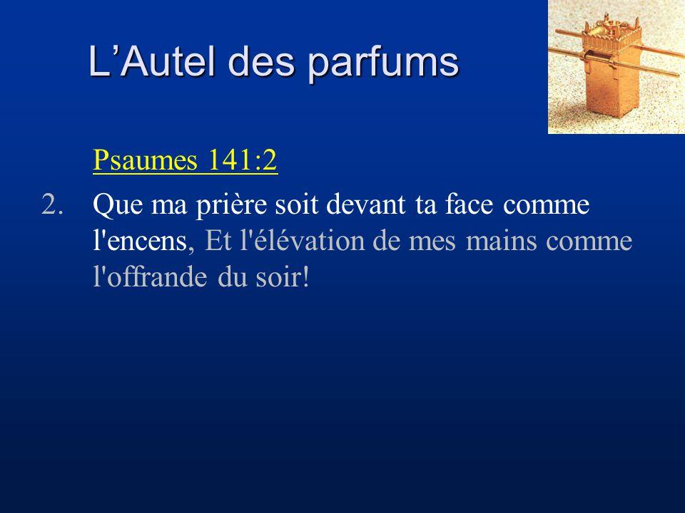 L'Autel des parfums Psaumes 141:2