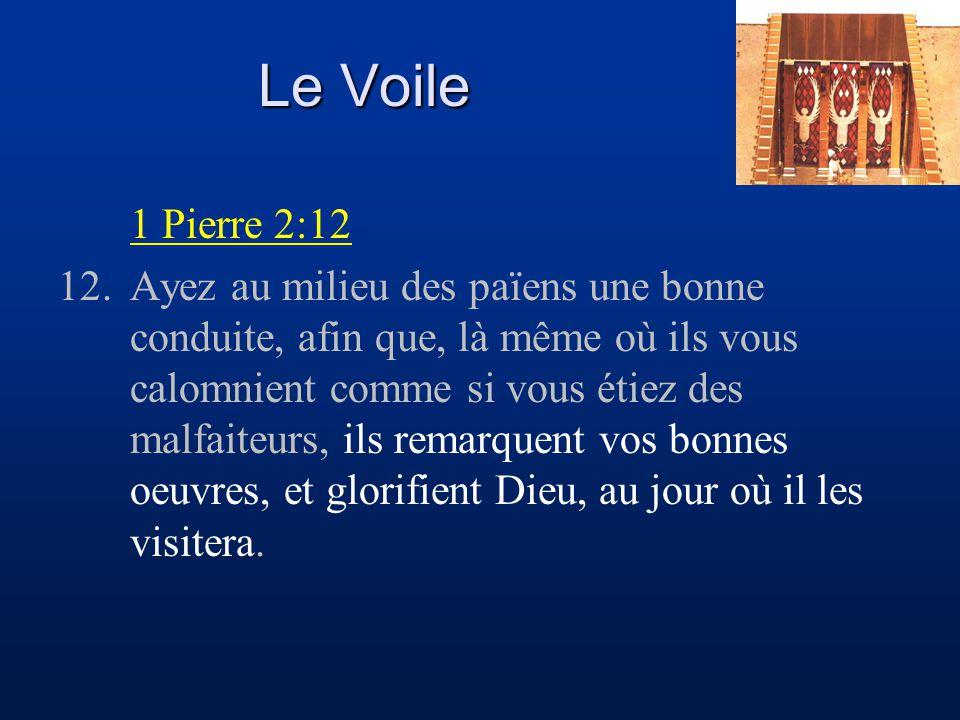 Le Voile 1 Pierre 2:12.