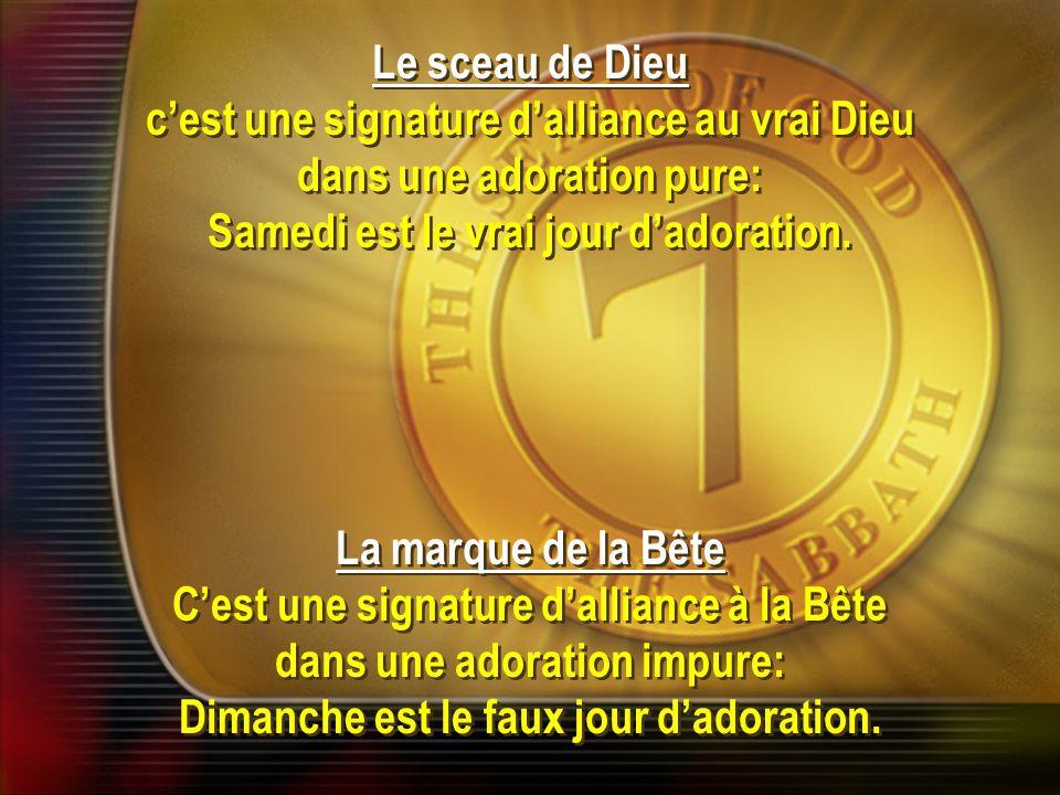 c'est une signature d'alliance au vrai Dieu dans une adoration pure:
