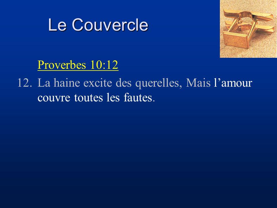 Le Couvercle Proverbes 10:12