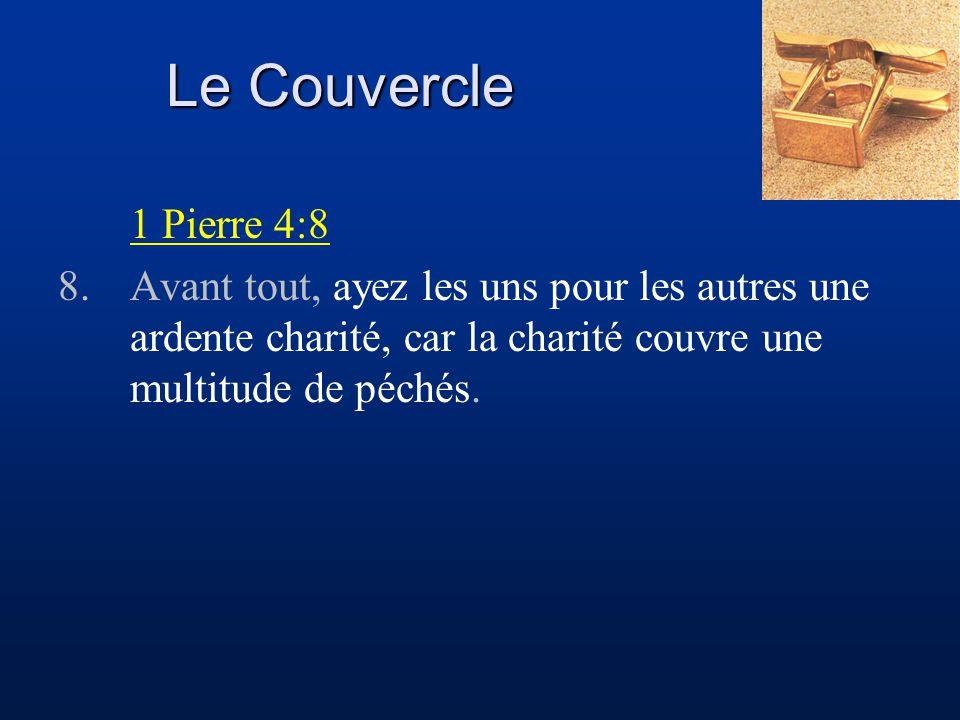 Le Couvercle 1 Pierre 4:8.