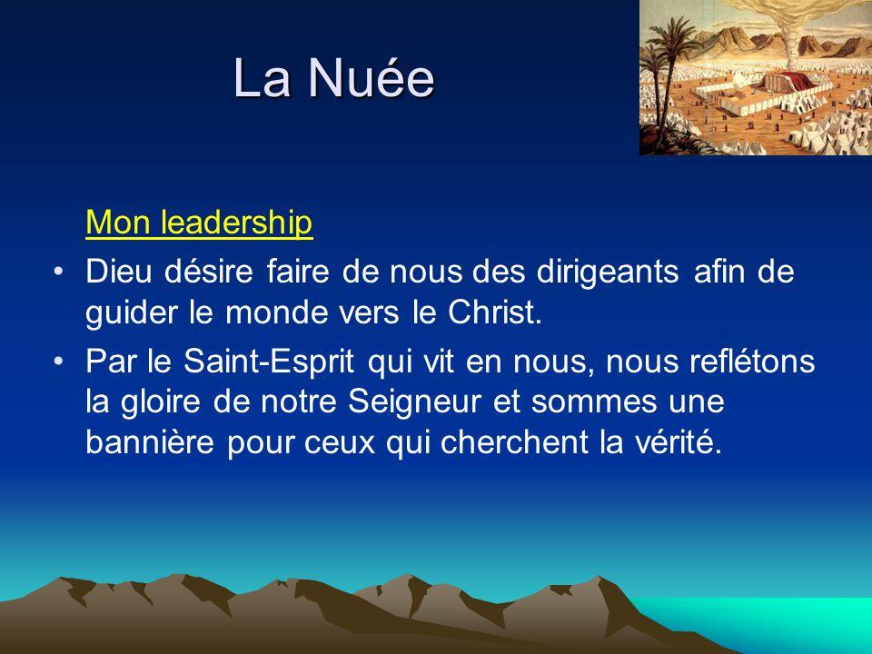 La Nuée Mon leadership. Dieu désire faire de nous des dirigeants afin de guider le monde vers le Christ.
