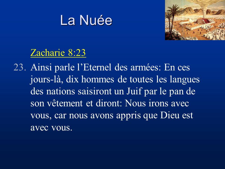 La Nuée Zacharie 8:23.