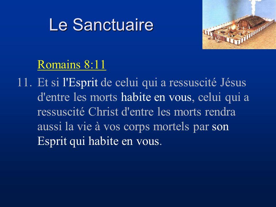 Le Sanctuaire Romains 8:11