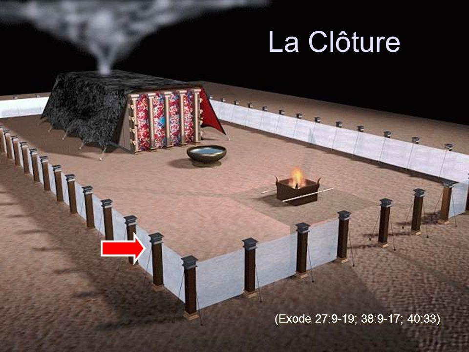 La Clôture (Exode 27:9-19; 38:9-17; 40:33)