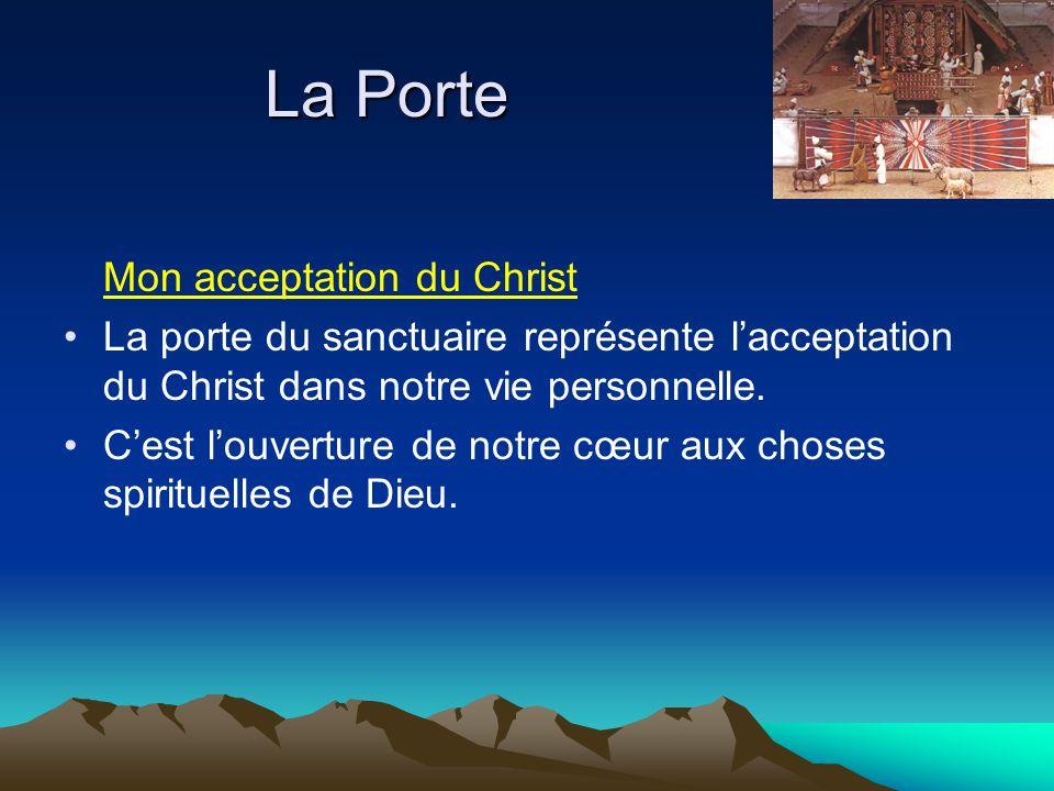 La Porte Mon acceptation du Christ