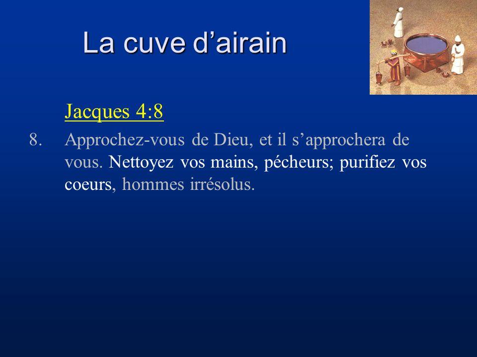 La cuve d'airain Jacques 4:8