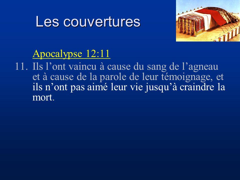 Les couvertures Apocalypse 12:11