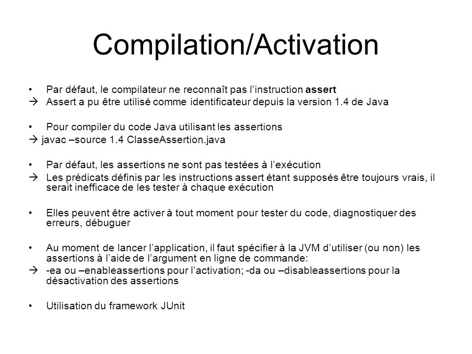 Compilation/Activation
