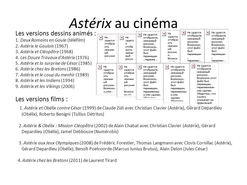 Astérix au cinéma Les versions dessins animés : 1. Deux Romains en Gaule (téléfilm) 2. Astérix le Gaulois (1967)