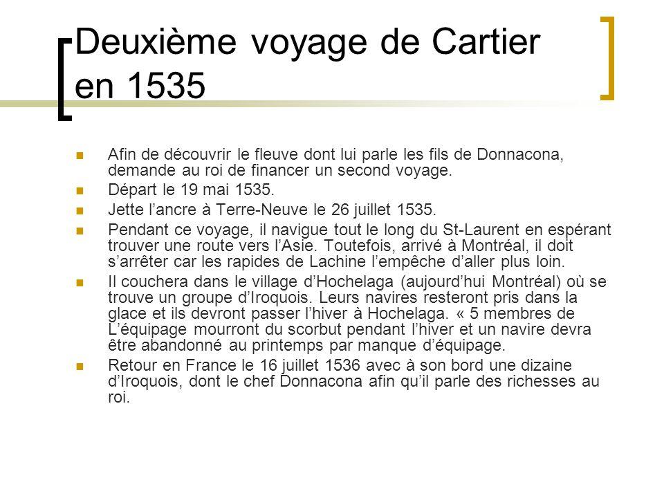 Deuxième voyage de Cartier en 1535