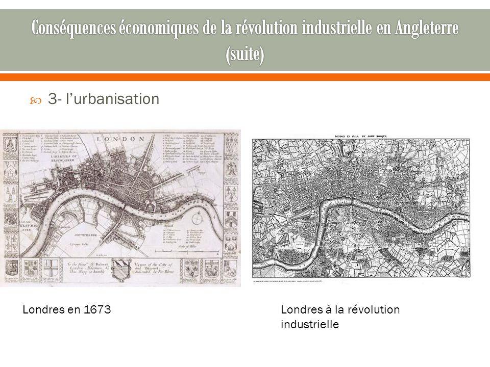 Conséquences économiques de la révolution industrielle en Angleterre (suite)