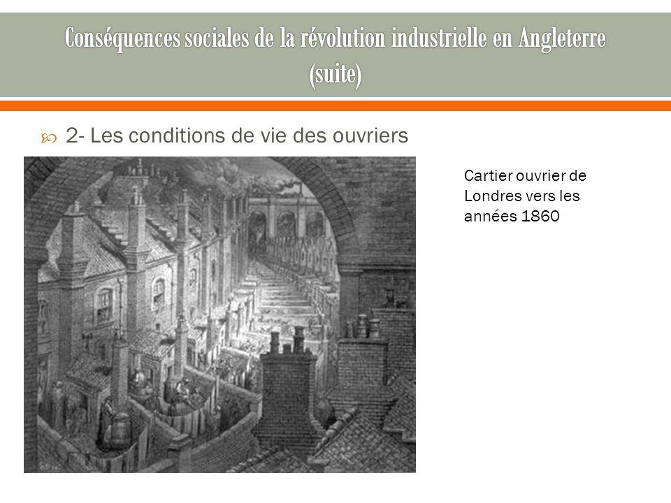 Conséquences sociales de la révolution industrielle en Angleterre (suite)