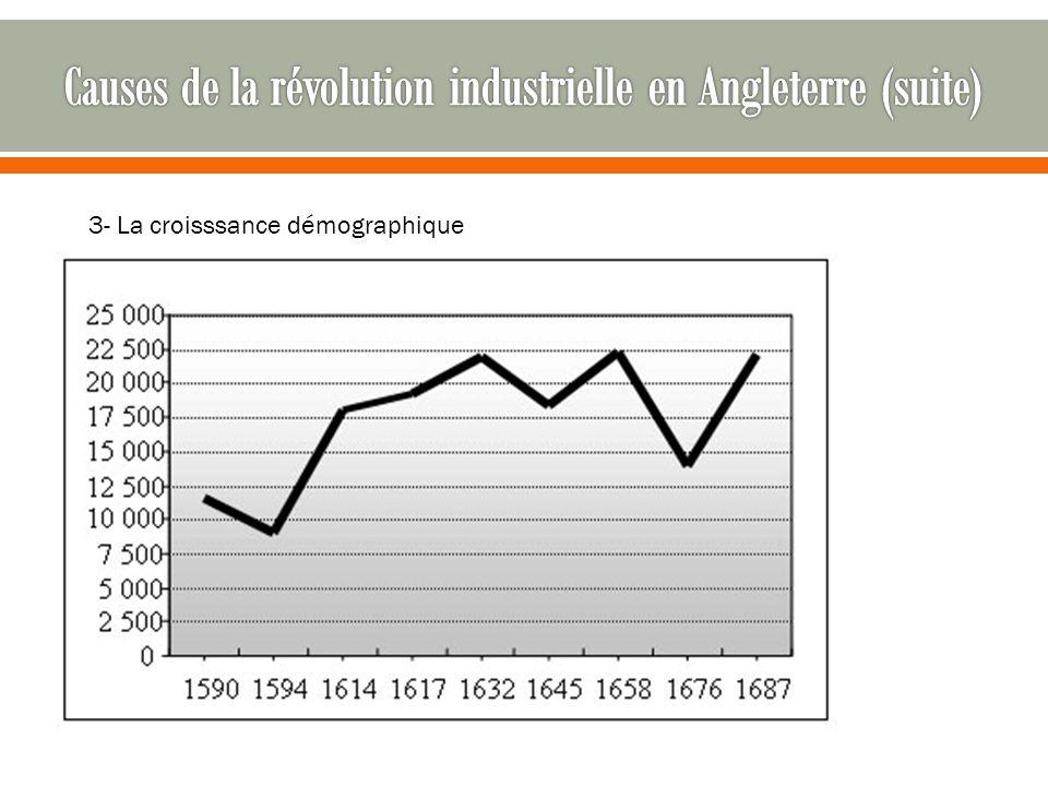 Causes de la révolution industrielle en Angleterre (suite)