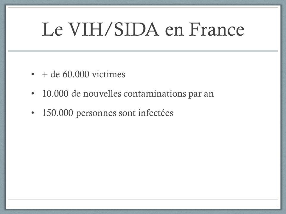 Le VIH/SIDA en France + de 60.000 victimes