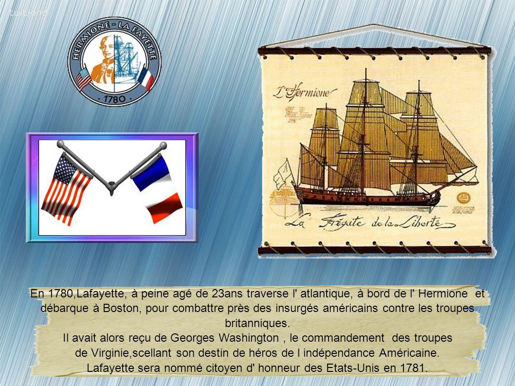 de Virginie,scellant son destin de héros de l indépendance Américaine.