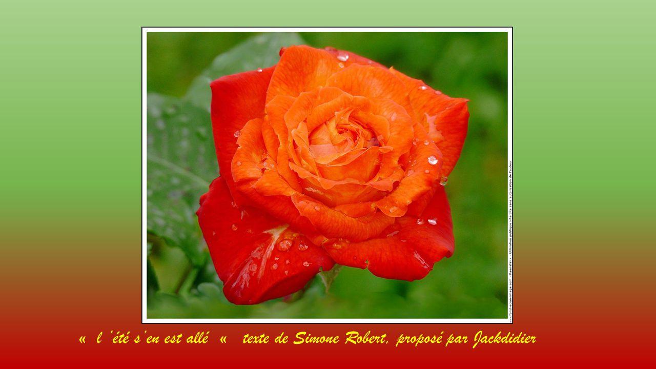 « l 'été s'en est allé « texte de Simone Robert, proposé par Jackdidier