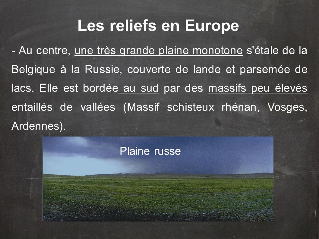 Les reliefs en Europe
