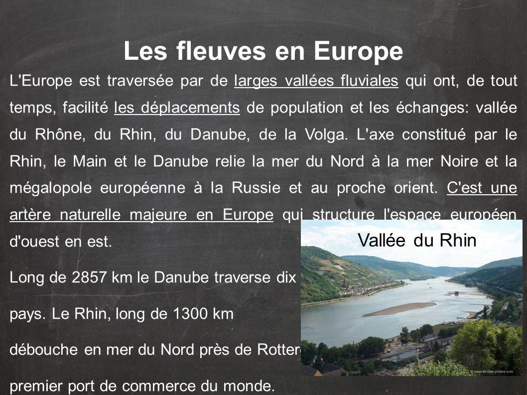 Les fleuves en Europe Vallée du Rhin