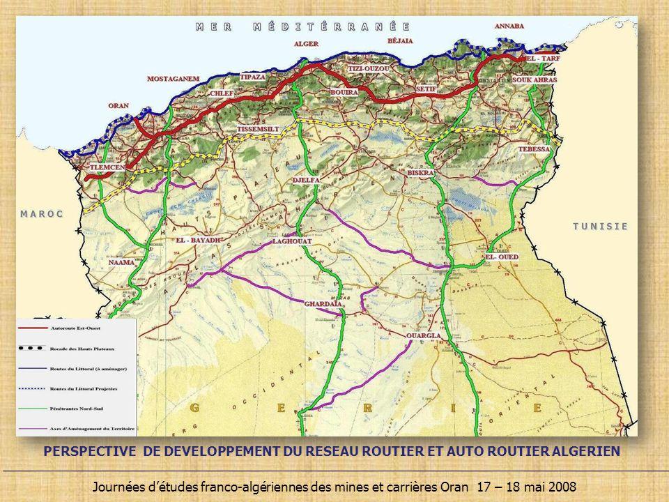PERSPECTIVE DE DEVELOPPEMENT DU RESEAU ROUTIER ET AUTO ROUTIER ALGERIEN