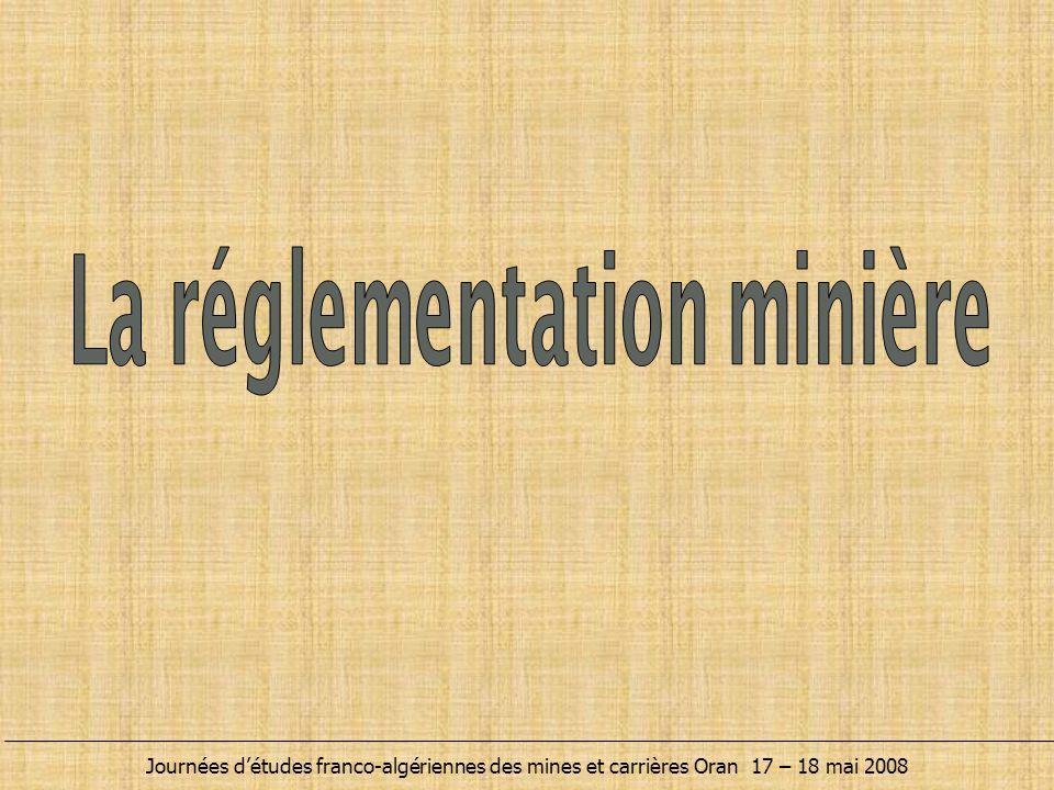 La réglementation minière