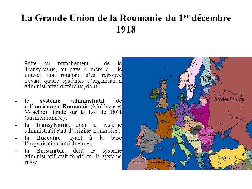 La Grande Union de la Roumanie du 1er décembre 1918
