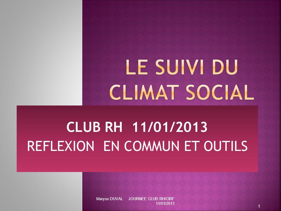 LE SUIVI DU CLIMAT SOCIAL