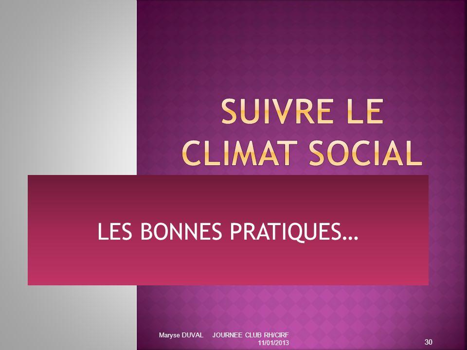 SUIVRE LE CLIMAT SOCIAL