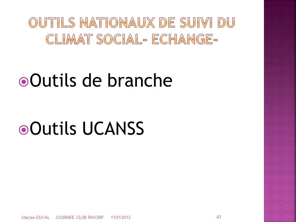 OUTILS NATIONAUX DE SUIVI DU CLIMAT SOCIAL- ECHANGE-