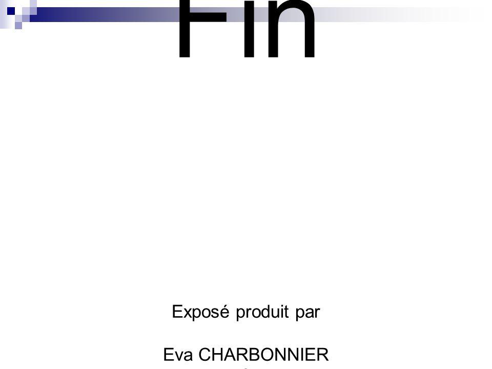 Fin Exposé produit par Eva CHARBONNIER & Aurore CROUTTE Première ES 2005-2006