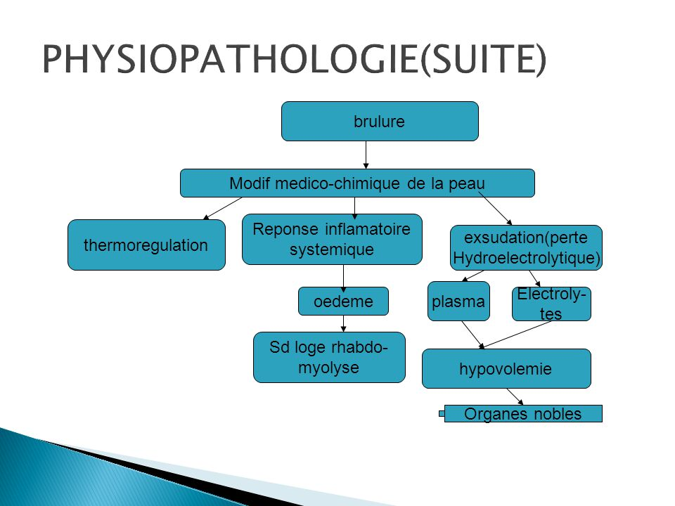 PHYSIOPATHOLOGIE(SUITE)