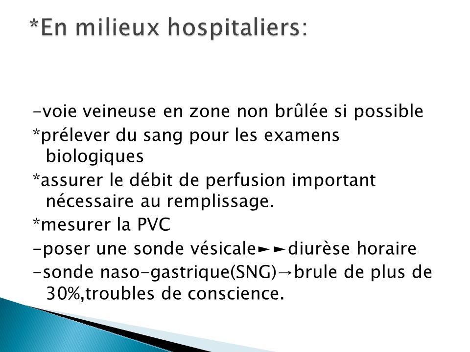*En milieux hospitaliers: