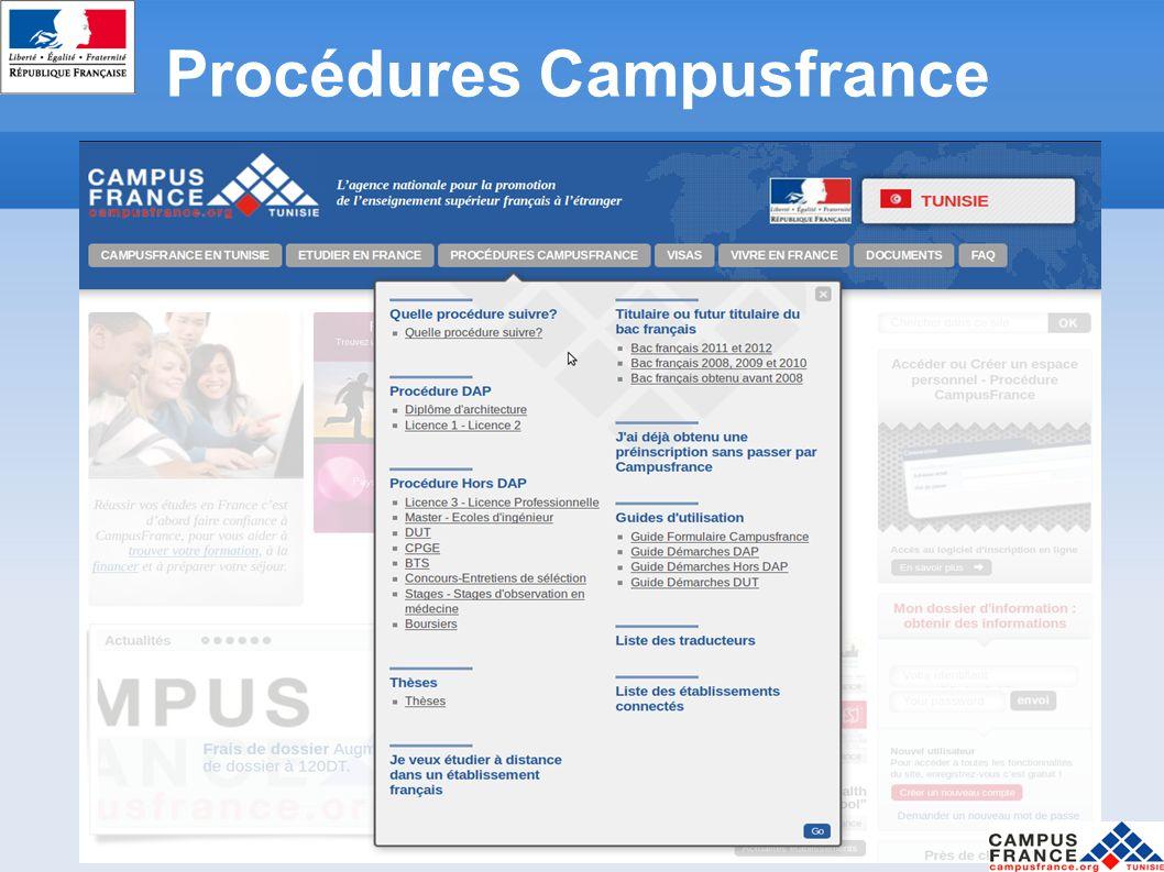 Procédures Campusfrance