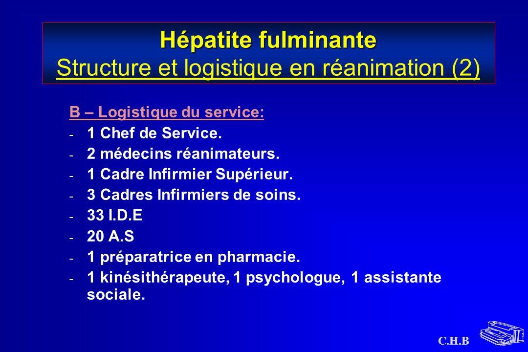 Hépatite fulminante Structure et logistique en réanimation (2)