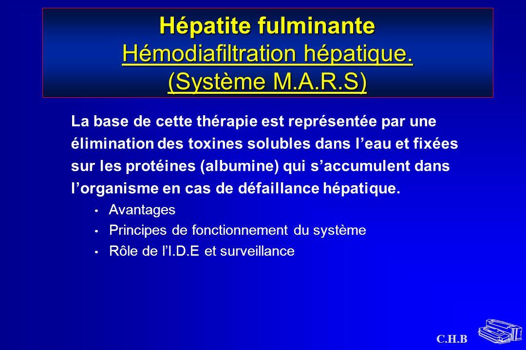 Hépatite fulminante Hémodiafiltration hépatique. (Système M.A.R.S)