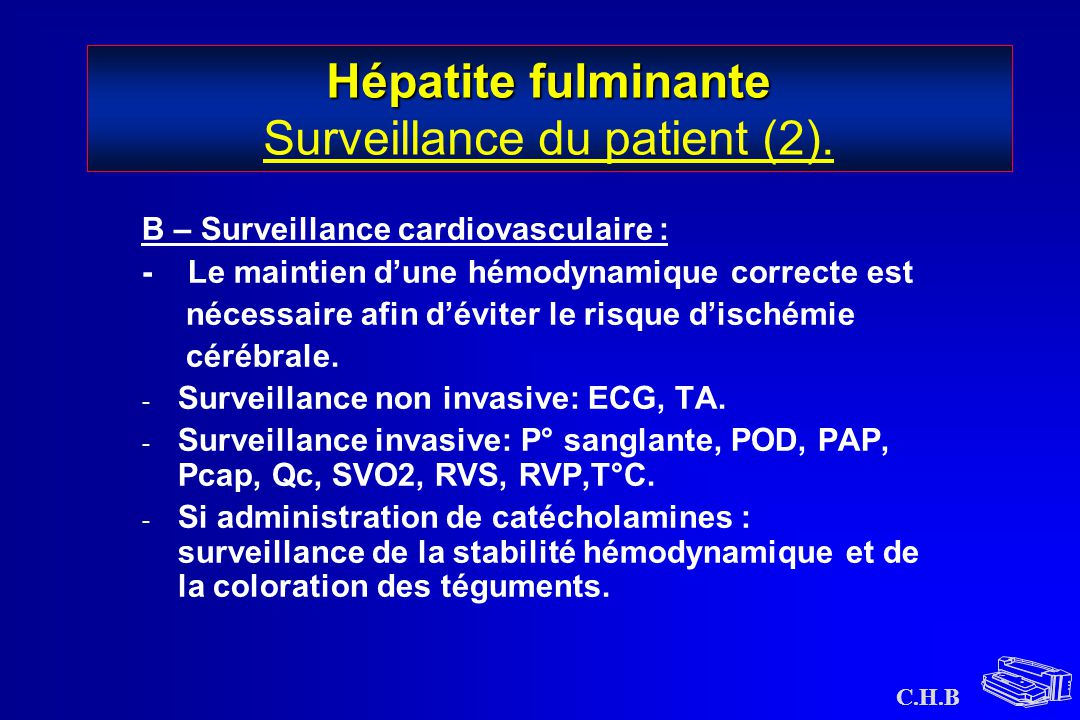 Hépatite fulminante Surveillance du patient (2).
