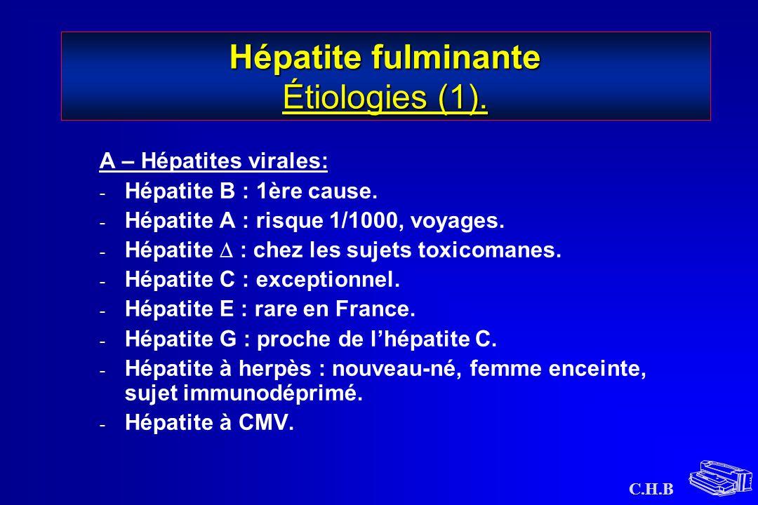 Hépatite fulminante Étiologies (1).
