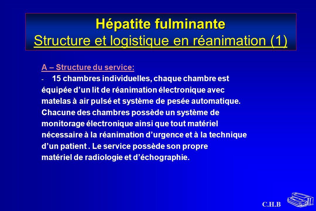 Hépatite fulminante Structure et logistique en réanimation (1)