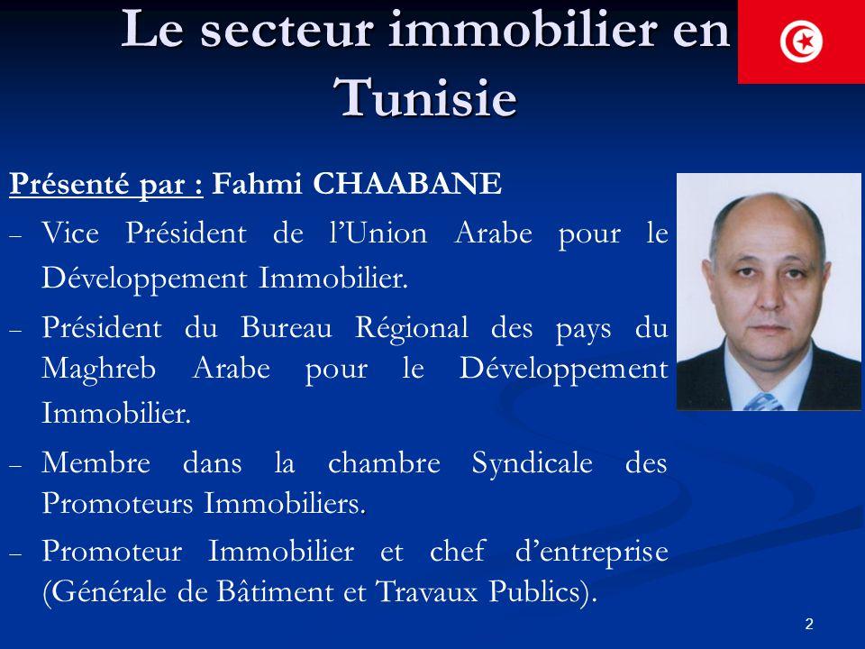 Le secteur immobilier en Tunisie