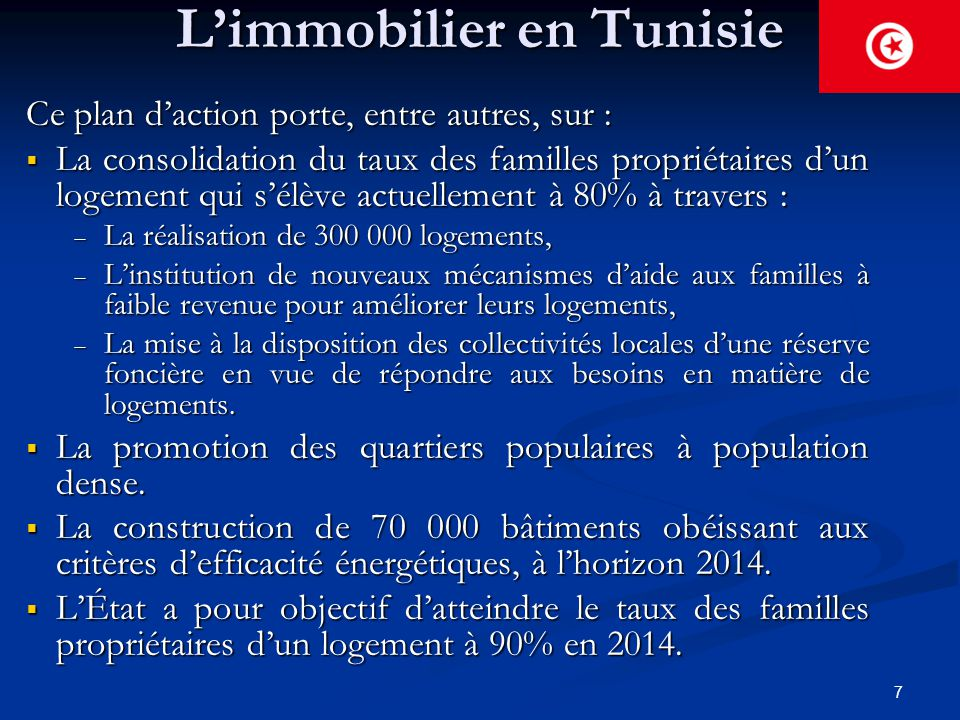 L'immobilier en Tunisie