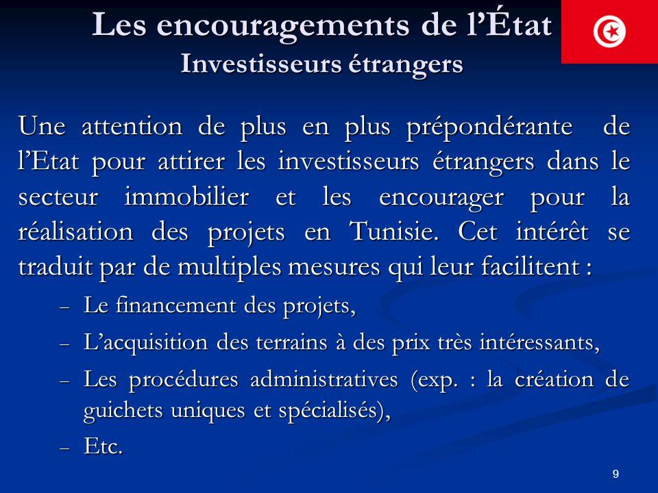 Les encouragements de l'État Investisseurs étrangers