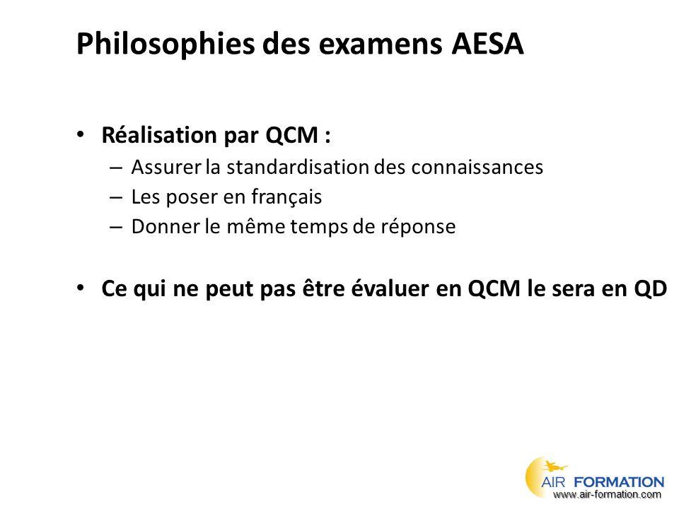 Philosophies des examens AESA