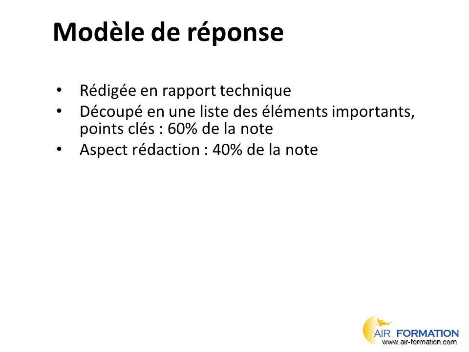 Modèle de réponse Rédigée en rapport technique