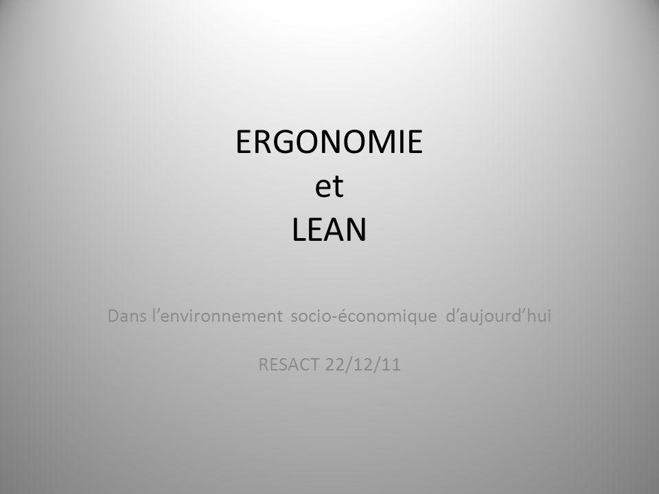 Dans l'environnement socio-économique d'aujourd'hui RESACT 22/12/11