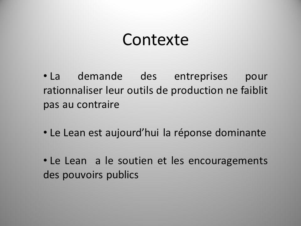Contexte La demande des entreprises pour rationnaliser leur outils de production ne faiblit pas au contraire.