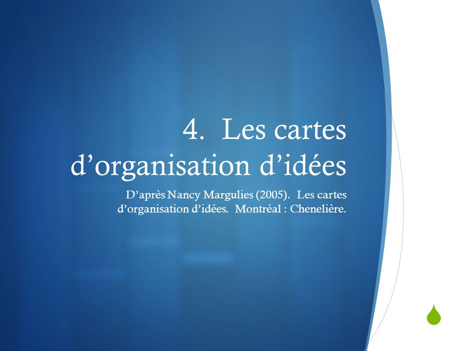 4. Les cartes d'organisation d'idées