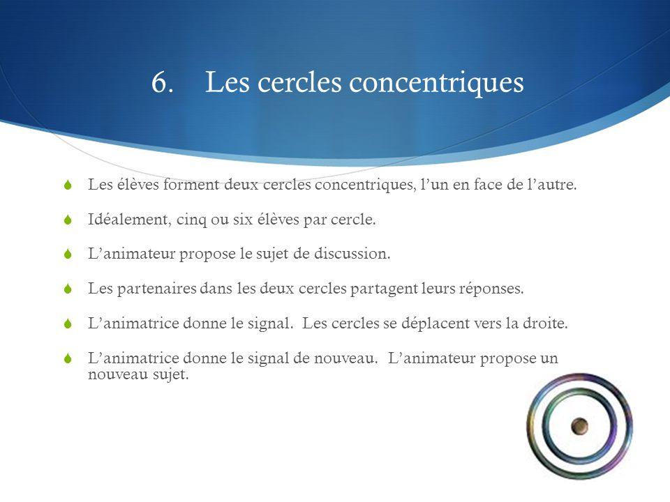 6. Les cercles concentriques